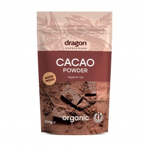 Dragon SuperFoods - Cacao pudra BIO raw, 200 gr