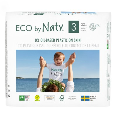 Eco by Naty - Scutece ECO,  marimea 3 (4-9 kg), 30 buc.